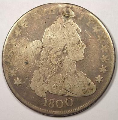 1800 Draped Bust Silver Dollar $1 - Very Good Details (VG) - Rare Type Coin!