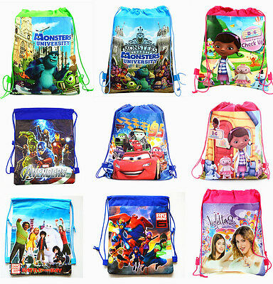 Monster High Big Hero Violetta Cartoon Bag Drawstring Backpack Kids School Bag A