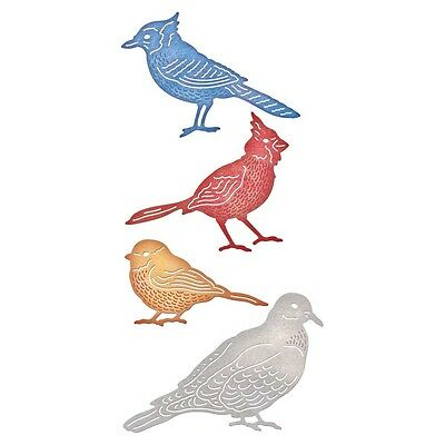 "Cheery Lynn Designs Die - Feathered Friends, .75""X2.25"""