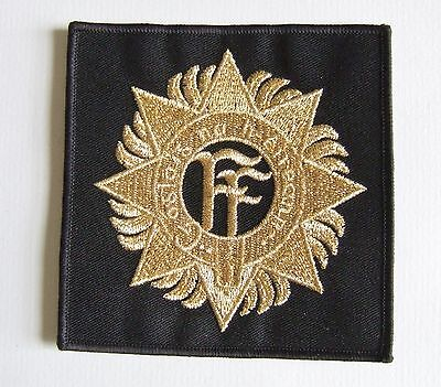 Eire Irish Defence Forces Army '' Ff Cap Badge '' Large Gold Wire Patch