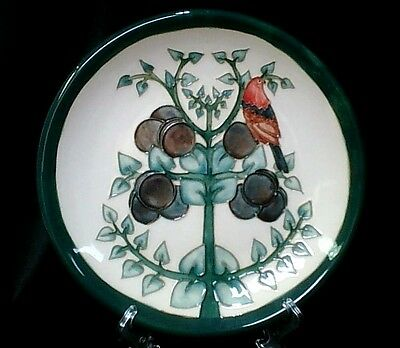 "MOORCROFT  Large Plate 26.5cm ""Finch & Plum"" Pattern 1st Quality"