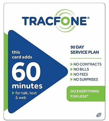 Tracfone 60 Minutes 90 Day Service Refill + Bonus Code and Fast Shipping