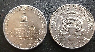 Usa Kennedy Half Dollars. (2) 1776-1976 200 Years Of Freedom - 1881 D.