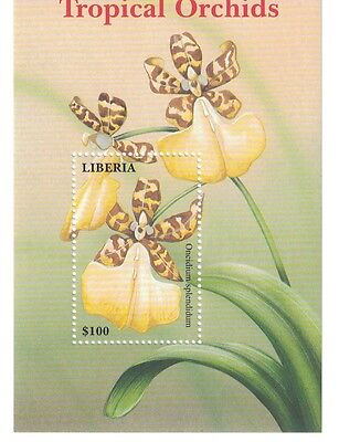 Liberia - 2000 Flowers Tropical Orchids - S/S MNH