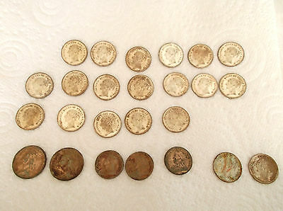 Queen Victoria Gaming Tokens.mixed.approx.old Sixpence Size Mainly.hanover Eagle