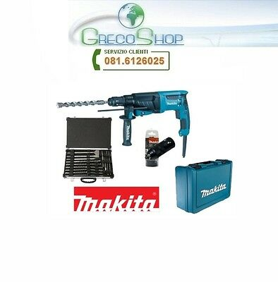 Trapano martello demolitore 26mm 800W set punte e scalpelli Makita - HR2630TX12