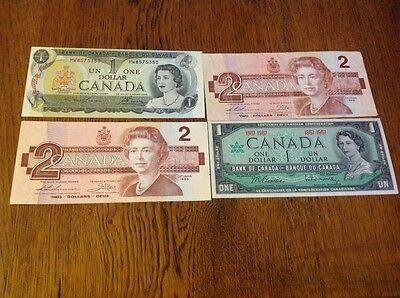 Collection of mixed Canada Dollar banknotes