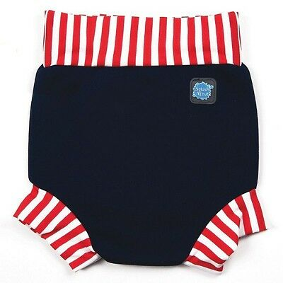 Splash About Happy Nappy (Red & White Stripe) - Double Extra Large