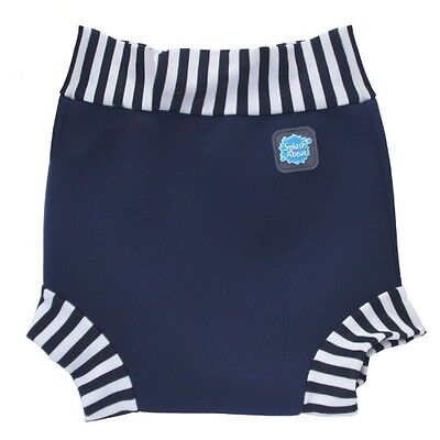 Splash About Happy Nappy (Navy & White Stripe) - Large