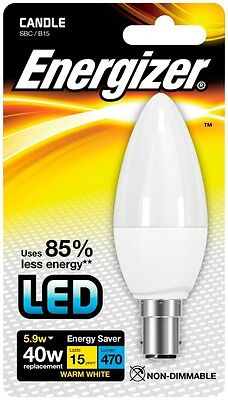 Energizer B15 Warm White Blister Pack Candle 5.9w