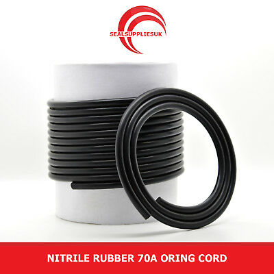 Nitrile Rubber 70 O Ring Cord 1MM Diameter - From 1 Metre Length [UK Supplier]
