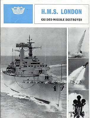 H.M.S. HMS London : guided missile destroyer : leaflet with insert Royal Navy