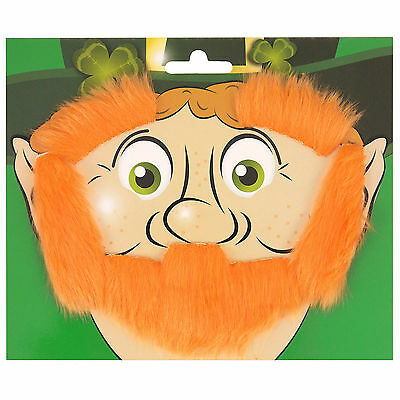 St. Patrick's Day Party Irish Ireland Leprechaun Beard Eyebrows & Sideburns Set