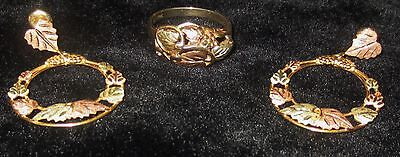 10K Vintage Matching Ring And Earrings 8.28 Grams***beautiful***