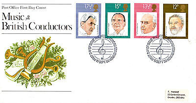 10 September 1980 Famous Conductors Post Office First Day Cover Bureau Shs (P)