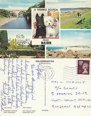 1978 Multi Views Of Nairn Nairnshire Scotland Colour Postcard