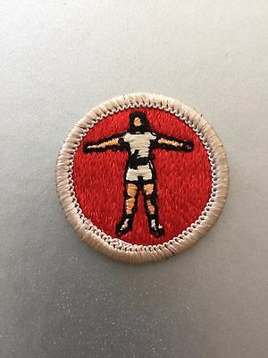 Old Merit Badge - Personal Fitness Required Eagle Plastic Back  1976 Era