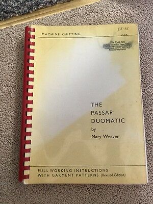 Passap Duomatic Working Instructions And Patterns