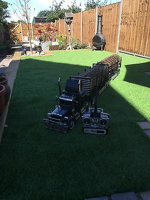 Tamiya 1:14 RC King Hauler With MFU And Double Logging Trailer RTR