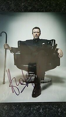 Hugh Laurie Authentic Signed Autograph Photo 10.5 x 8.5 with COA