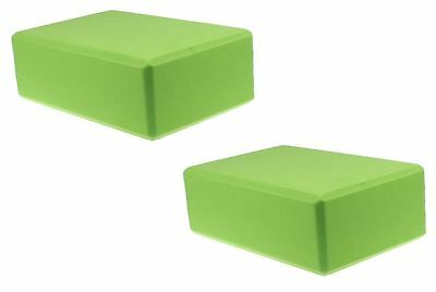 2pcs Yoga Block Brick Foaming Foam Home Exercise Practice Gym Sport Tool Green