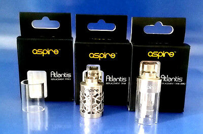 Aspire Atlantis remplacement tank  hollowed/verre glass