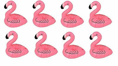 inflatable pink flamingo floating drink holder hot tub pool bath party