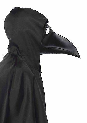 Faux Leather Plague Doctor Mask