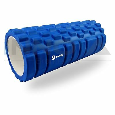 Fitness Foam Roller Trigger Point Textured Massage Therapy Yoga Grid 32cm Blue
