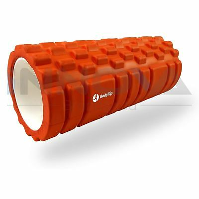 Fitness Foam Roller Trigger Point Textured Massage Therapy Yoga Grid 32cm Orange