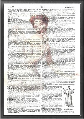 Ballerina Fairie Altered Art Print Upcycled Vintage Dictionary Page