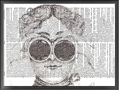 Steampunk Binoculars Altered Art Print Upcycled Vintage Dictionary Page
