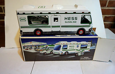 HESS TOY Recreation Vehicle 1998 with Dune Buggy and Motorcycle
