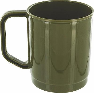 Camping ARMY Style 275 ML New OLIVE Green PLASTIC / POLYPROPYLENE  Mug Picnic