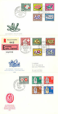 CH-PP, 1957/59, je FDC, KW 170.- CHF