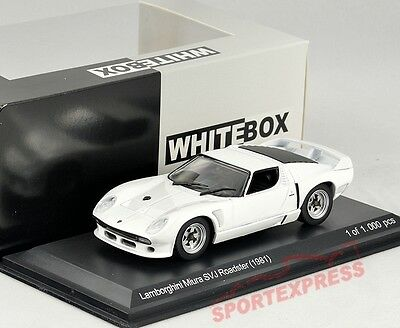 NEW 1/43 White BOX WB509 Lamborghini Miura SVJ Roadster, white 1981