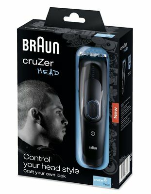 Braun CruZer 5 Waterproof Electric Rechargeable Mens Head Hair Clipper Shaver
