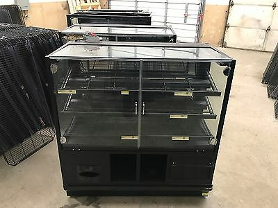 "48"" Self Serve 2 Door Glass Bakery Donut Dry Display Show Case 4'"