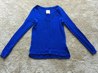 new abercrombie girl's V-neck sweater blue color,size XL