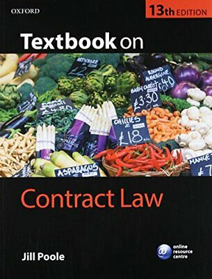 Textbook on Contract Law by Poole, Jill Book The Cheap Fast Free Post