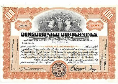 Consolidated Coppermines Corporation.....1959 Stock Certificate