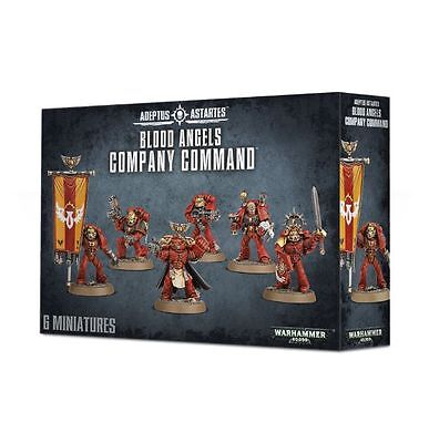 Space Marines Blood Angels Command Squad Warhammer 40K New!