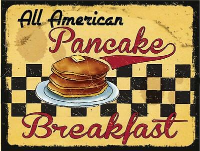 All American Breakfast Pancakes Restaurant Diner Food Sign