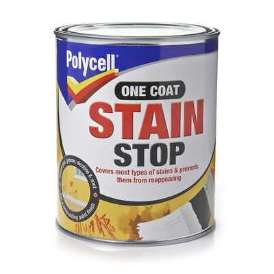 Polycell One Coat Stain Stop Blocker Paint 1 Litre