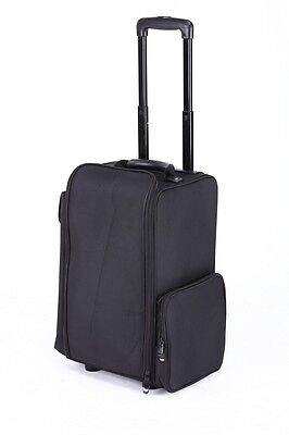 Cosmetic Makeup Artist Nylon Professional Trolley Carry Case Organizer Box
