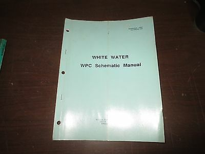 Williams White Water WPC Schematic Pinball Game Manual