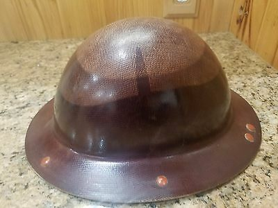 Vintage WWII 1940's? McDonald Fiberglass Hard Hat Utility Worker Construction