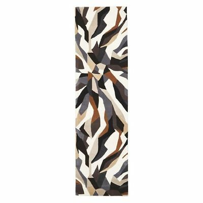 NEW Rug Culture Modern Geo Wool Runner Rug, Earth