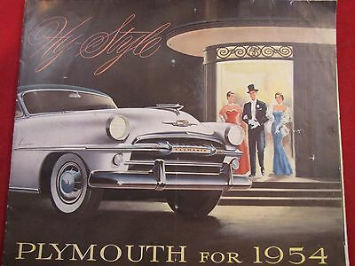 1954 Plymouth Full Line Original Sales Brochure Plaza Savoy Belvedere Coupe Seda