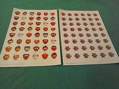 Comic Relief Red Nose Day 2017 Stickers  X 96 *~ *brand* New~